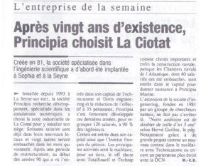SEPT 2002 PRINCIPIA A LA CIOTAT